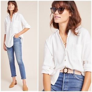 NWT Anthropologie White Button Down